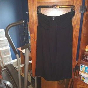 H&M strapless black dress size 10